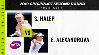 Simona Halep vs. Ekaterina Alexandrova | 2019 Western & Southern Open Second Round | WTA Highli