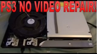 PS3 WITH NO VIDEO AND GREEN LIGHT REPAIR GLOD Hard Drive Failure (como reparar PS3 sin video)