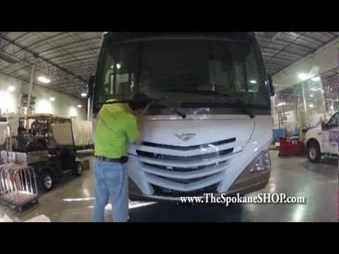Rv Motorhome Clear Bra Paint Protection Film Inlstall By The Spokane Youtube
