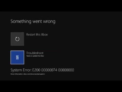 Xbox One Error E200 FIX - YouTube