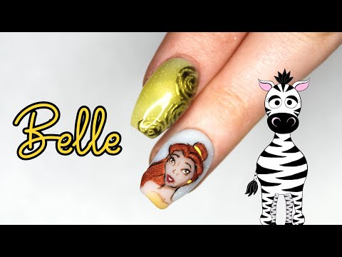 3D Belle Acrylic Nail Art Tutorial | Disney Princess Series | Beauty and the Beast thumbnail