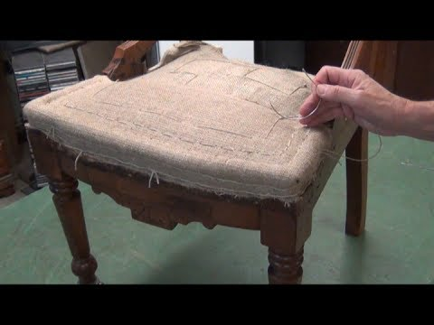 Eastlake Chair Upholstery -  Traditional Springing & Stuffing Techniques