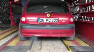 Clio düz boru warex calısması kaya egsoz
