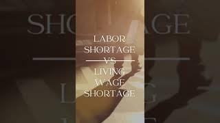 #shorts CA EDD Unemployment - Labor Shortage or Living Wage Shortage