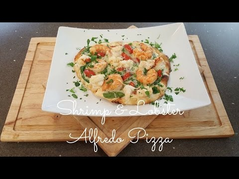 shrimp-&-lobster-alfredo-pizza