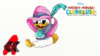 Baby Disney DAISY DUCK with a Hat Draw 2 Kids