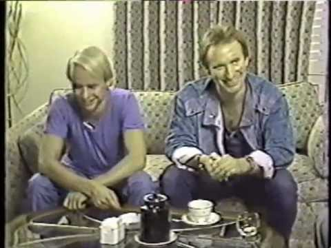 Colin Hay and Greg Ham of Men at Work on Evening Magazine - 1983