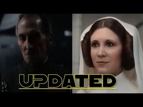 Rogue One: A Star Wars Story - CGI Tarkin and Leia Organa