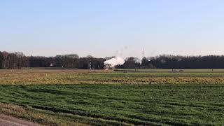 Veluwsche Stoomtrein Maatschappij / Kerstrit met loc 50 3654 in Beekbergen (test 4K)