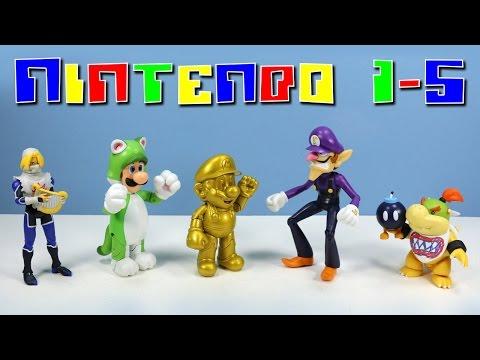 World Of Nintendo Action Figures Series 1-5 Gold Mario Cat Luigi Bowser Jr