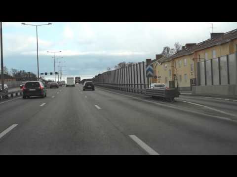 Sweden, Stockholm, driving from Gullmarslan to Mc Donalds in Haninge