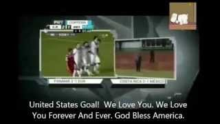 Mexico Commentator Screams 'We Love You Forever And Ever. God Bless America' With Subtitles