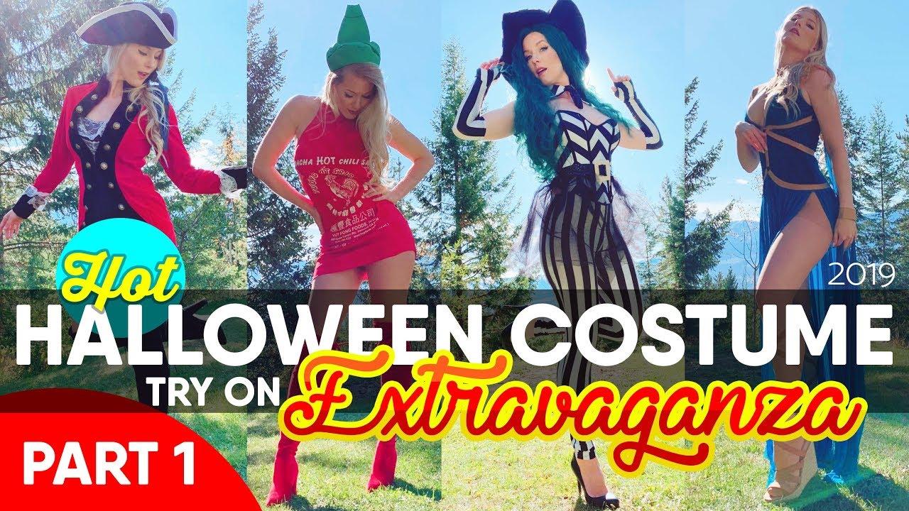 HALLOWEN COSTUME IDEAS - HOT Halloween Costume Try-On HAUL!