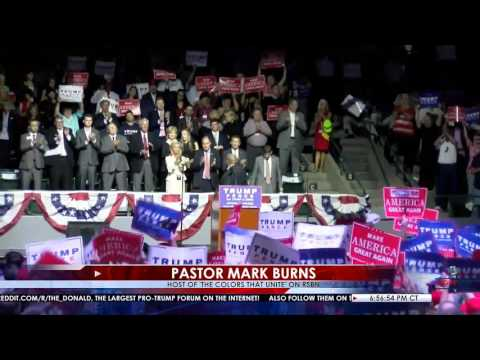 Pastor Mark Burns Speaks at Donald Trump Rally in Jackson, MS