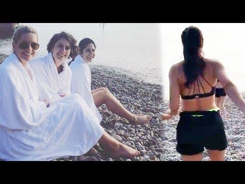 Katrina Kaif Swims In ZERO Degrees | New Year 2019 Vacation Video