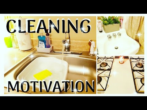 CLEAN WITH ME | KITCHEN AND BATHROOM | SATISFYING