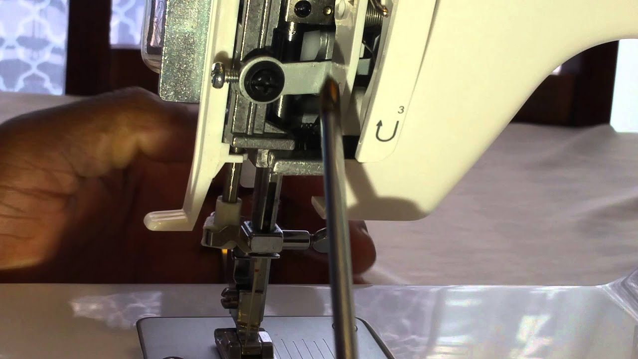 How to re align adjust the needle on your sewing machine for Machine a coudre xl 2600 brother