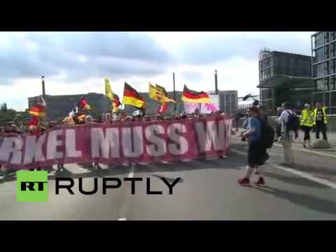 Germany: Thousands attend 'Merkel Must Go' demo in Berlin