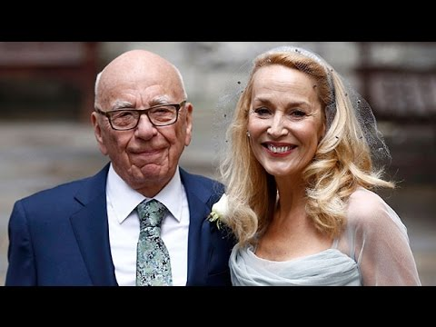 Rupert Murdoch and Jerry Hall hold second wedding ceremony on the capital's Fleet Street