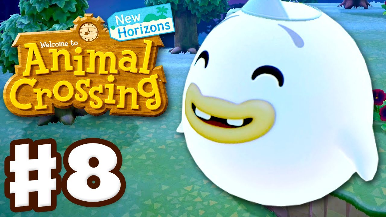 Helping Wisp! Night Gameplay! - Animal Crossing: New Horizons - Gameplay Walkthrough Part 8