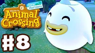 Helping Wisp! Night Gameplay! - Animal Crossing: New Horizons - Gameplay Walkthrough Part 8