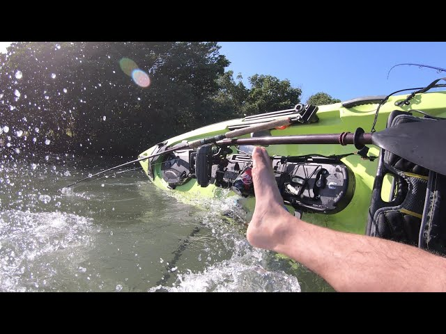 DO NOT TRY THIS on a narrow fishing kayak like this Ocean Kayak Trident 13