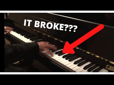 Broke my piano with unravel