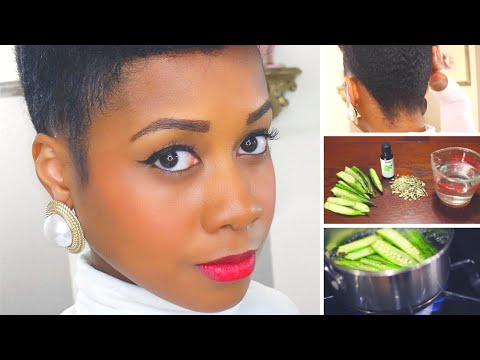 Easy DIY Okra Hair Gel for Kinky Curly Natural Hair | Provides Great Hold
