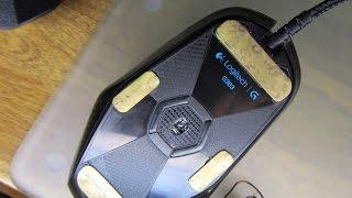 Logitech test G303 + латунь + стеклянный коврик для мыши (Canon SX210)