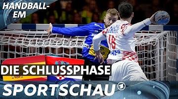 Finale Spanien - Kroatien: Die spannende Schlussphase | Handball-EM | Sportschau