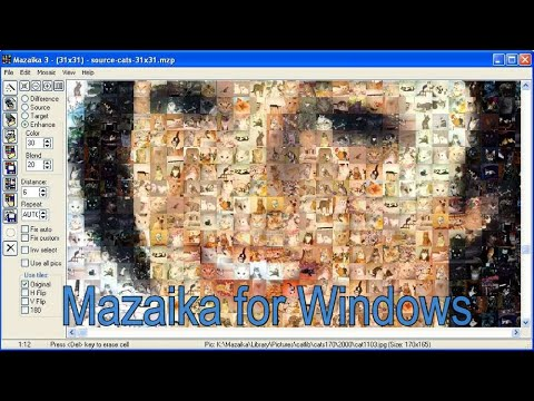 Mazaika Tutorial. Make a Photo Mosaic from your photos. - YouTube