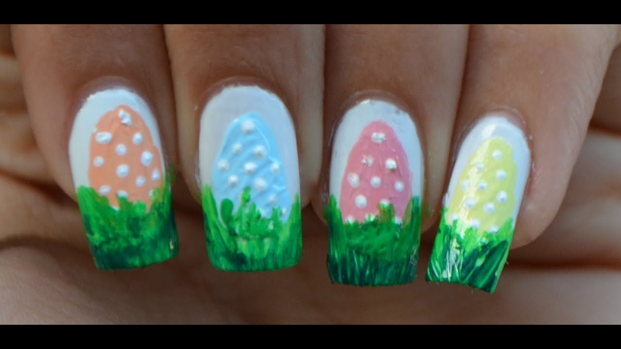 Easy Easter Nails - YouTube