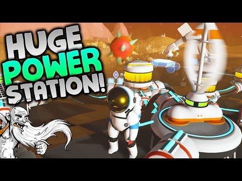 """Astroneer Gameplay - """"HUGE WIND TURBINE POWER STATION!!!"""" -  Walkthrough Let's Play"""