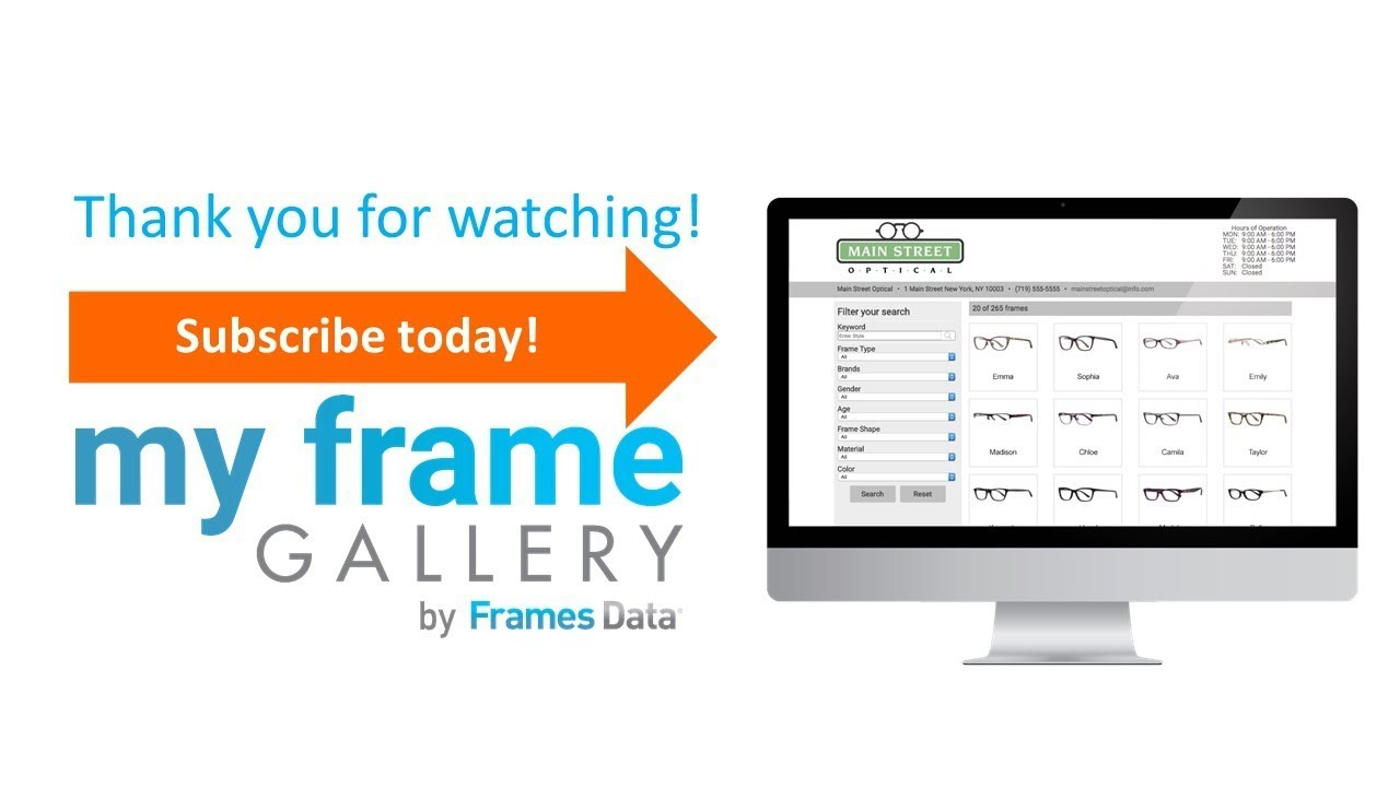 My Frame Gallery: Your Online Solution to In-store frame sales - YouTube