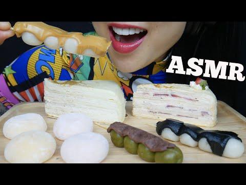 Asmr Dessert Platter Crepe Cake Mochi Dango Eating Sounds No Talking Sas Asmr Youtube Hi sas, which microphone are you using for your asmr videos? youtube