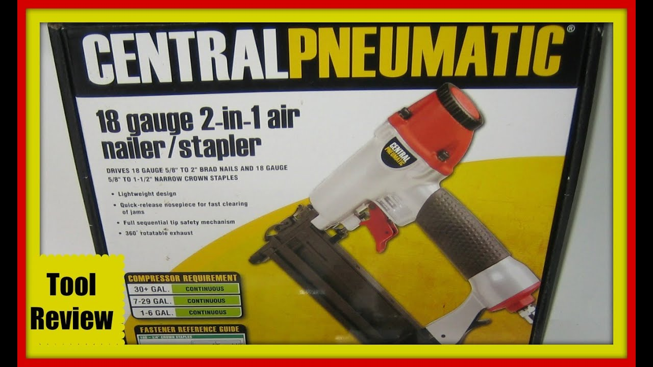 Tool Review For Harbor Freight Pneumatic Nail Gun - YouTube