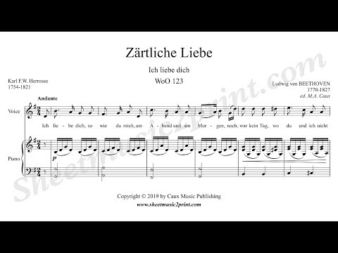 Beethoven : Ich Liebe Dich, WoO 123