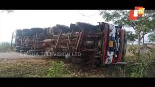 Spirit-Laden Tanker Overturns In Ganjam
