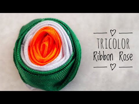 Easy DIY Tricolor Ribbon Rose Independence day Crafts  Decoration ideas on 15 August Quicky Crafts
