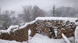 Snowstorm PERLA 2017. KOBAYAT, LEBANON