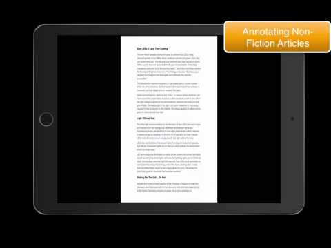 Annotating Non-Fiction Articles in MS