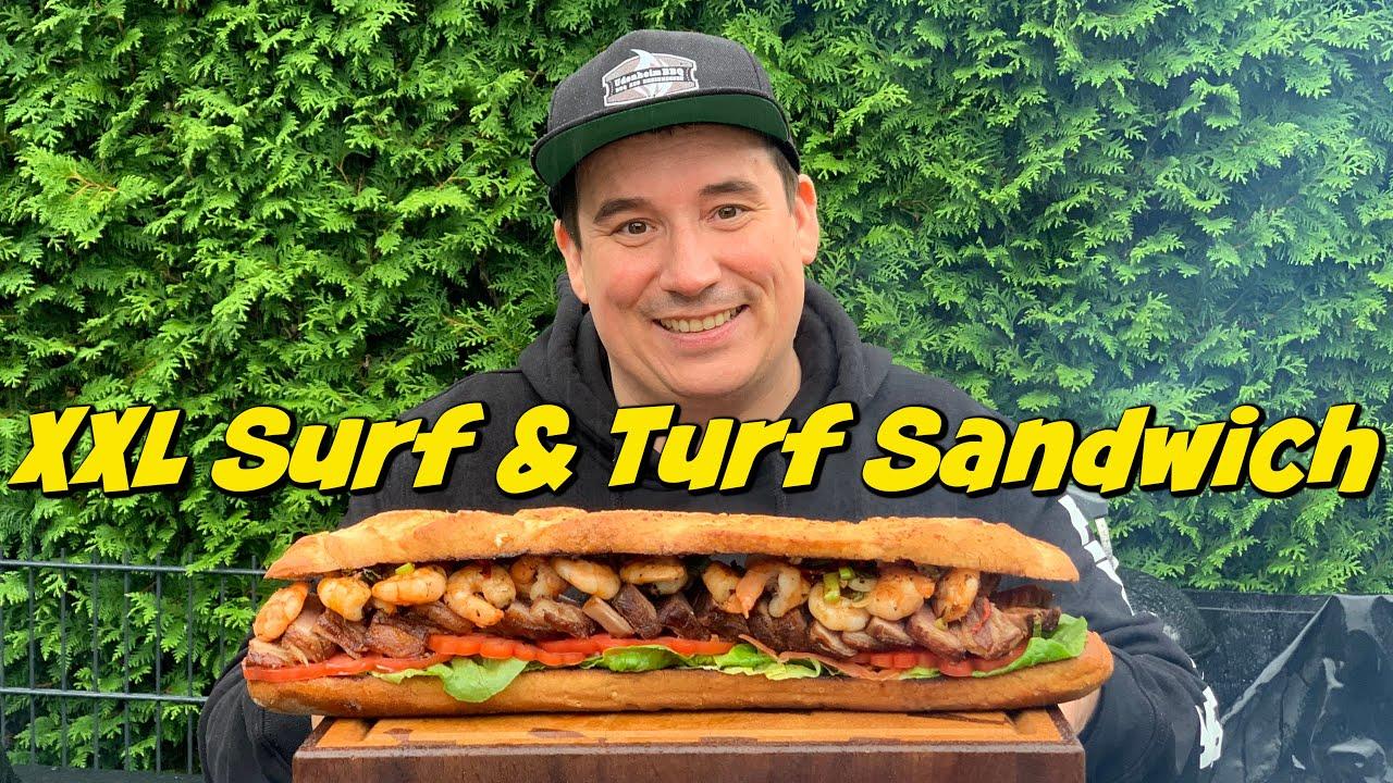 XXL Surf & Turf Sandwich von der Feuerplatte