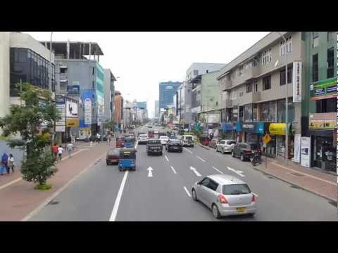 Driving on Galle Road (Rd) in Colombo, Sri Lanka