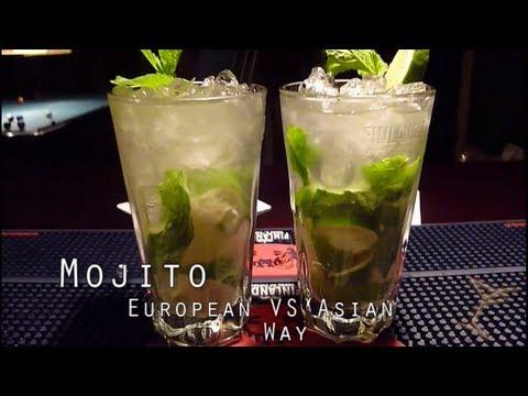 How To Make Mojito European Way VS Asian Way