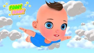 Baby with toy flying in dreams