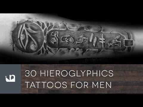 30 Hieroglyphics Tattoos Tattoos For Men