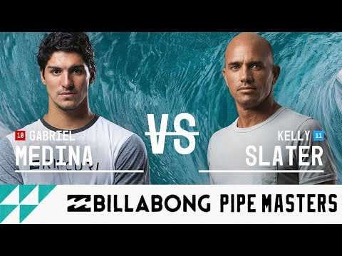 Gabriel Medina vs. Kelly Slater  Round Five, Heat 3  Billabong Pipe Masters 2017