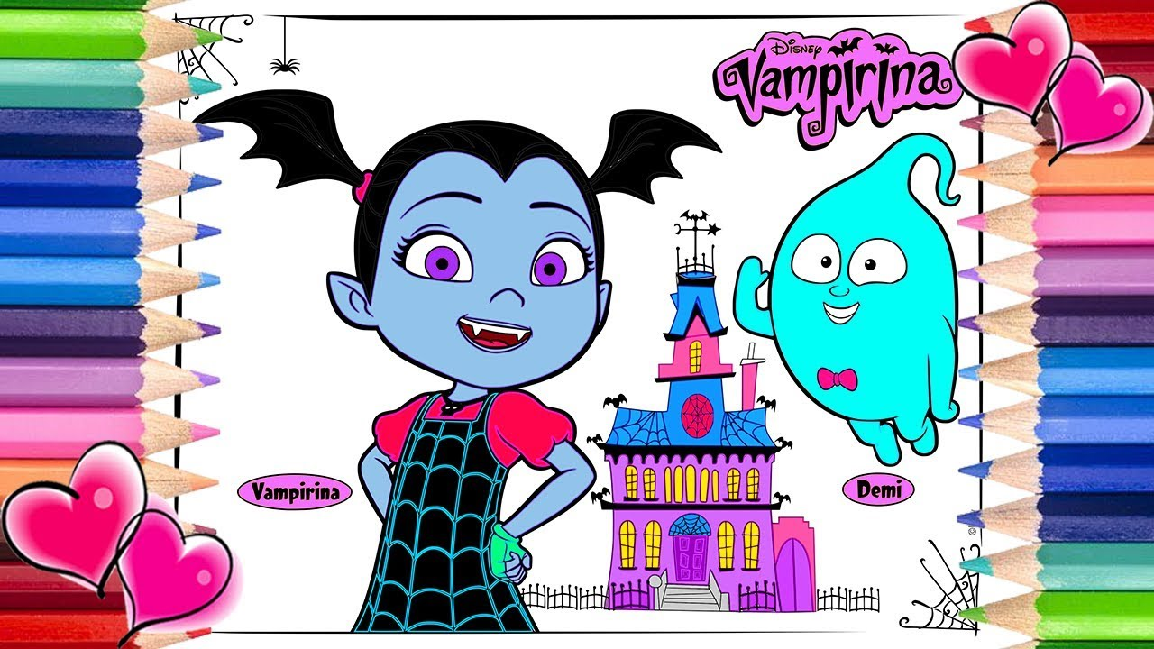 Vampirina And Demi Scare B B Coloring Page Vampirina Coloring Book