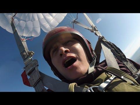 Первый прыжок с парашютом - перелом ноги