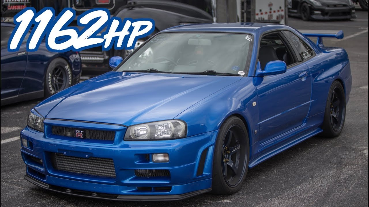 1162hp skyline r34 gtr godzilla ride along - baddest skyline in the